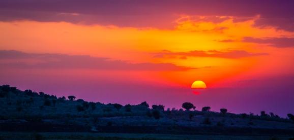 Sunset in Maasai Mara Kenya