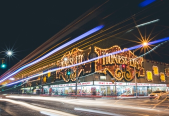 Honest Eds Toronto Night Lights Photo