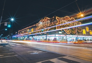 Honest Ed's in Toronto Long Exposure