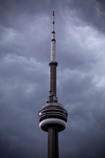 CN Tower with Moody Clouds