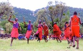 Maasai warrior dance in Kenya