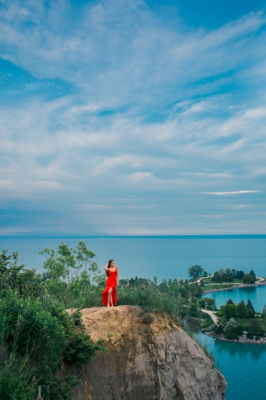 Lady in the Red Dress, Scarborough Bluffs