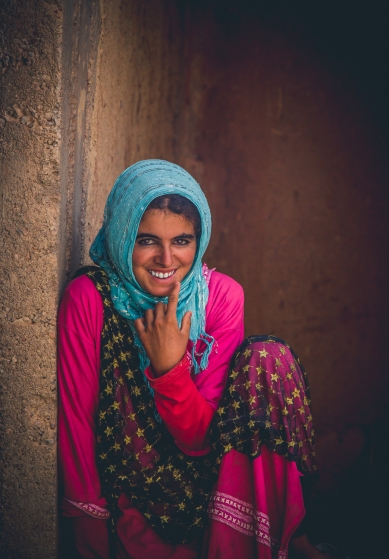 Portrait of a Berber Nomad Girl