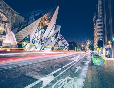 Toronto's Royal Ontario Museum at Night