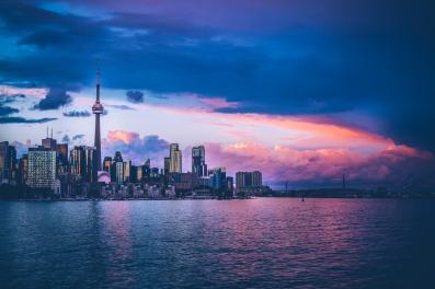 Toronto Skyline at Dusk from Trillium Park