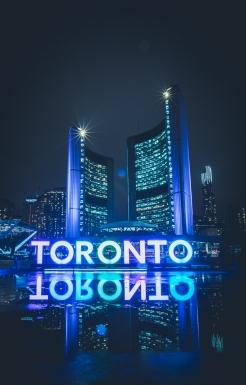 Toronto Sign at Nathan Phillips at Night