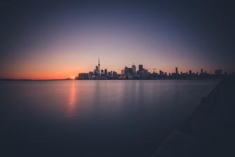 Toronto Sunset Photo Cityscape