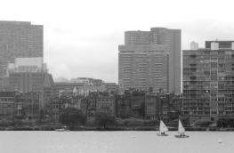 Boston waterfront from Cambridge