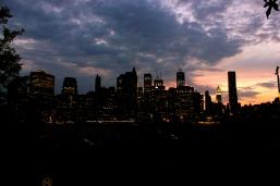Sunset over New York