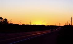 The windmills in rural Ontario
