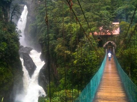 Waterfall in Banos, Ecuador