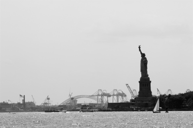 Statue of Liberty and Coney Island