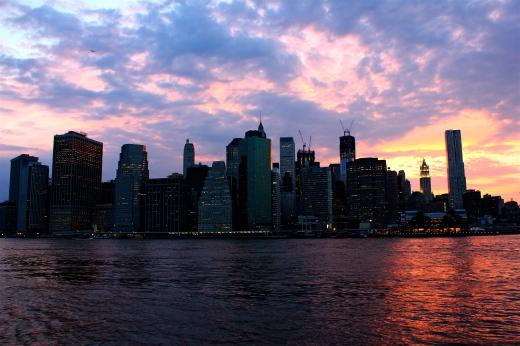 The sunset on Manhattan