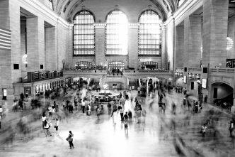 The standstill at Grand Central Station in New York