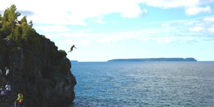 The cliff jump in Tobermory