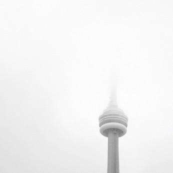 CN Tower in Clouds