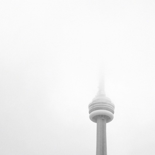 CN Tower in Clouds