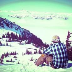 Josh on top of Whistler