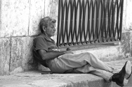 This was shot on the streets of Old Havana. Note the cigar.