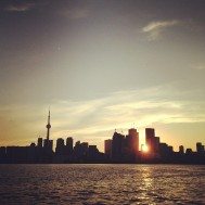 CN Tower at Sunset