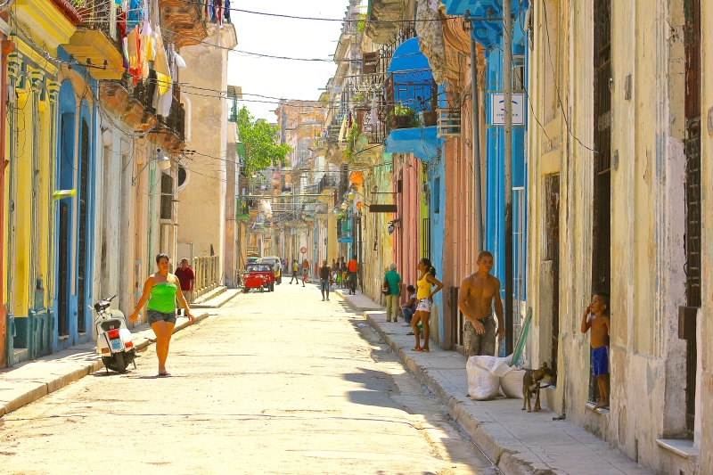 Downtown Streets of Old Havana