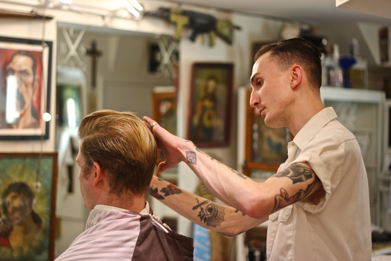 Inside Crows Nest Barbershop 10