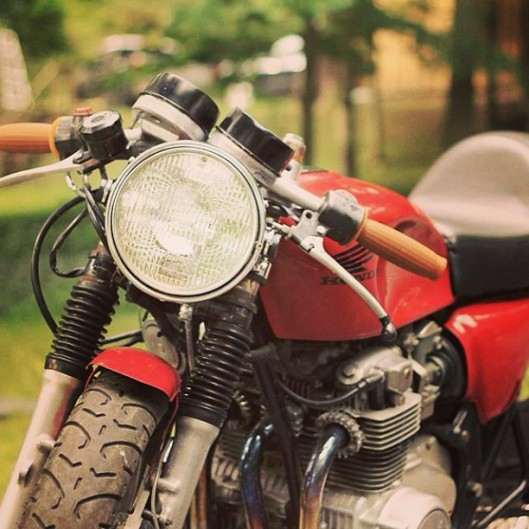 Motorcycle with Instagram