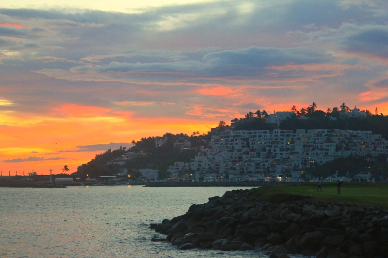 Beauty sunset in Manzanillo