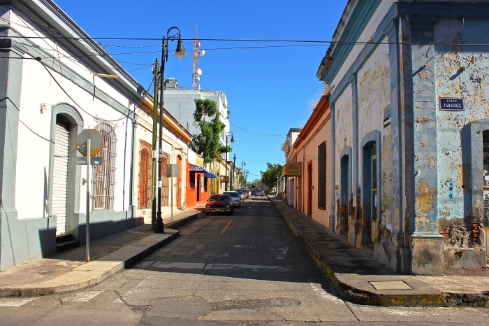 Downtown streets in Colima