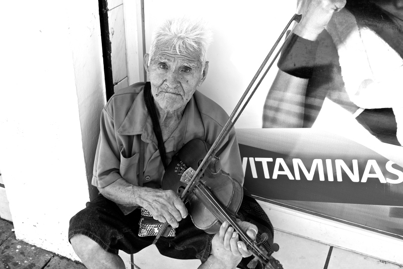 Violin player in Colima