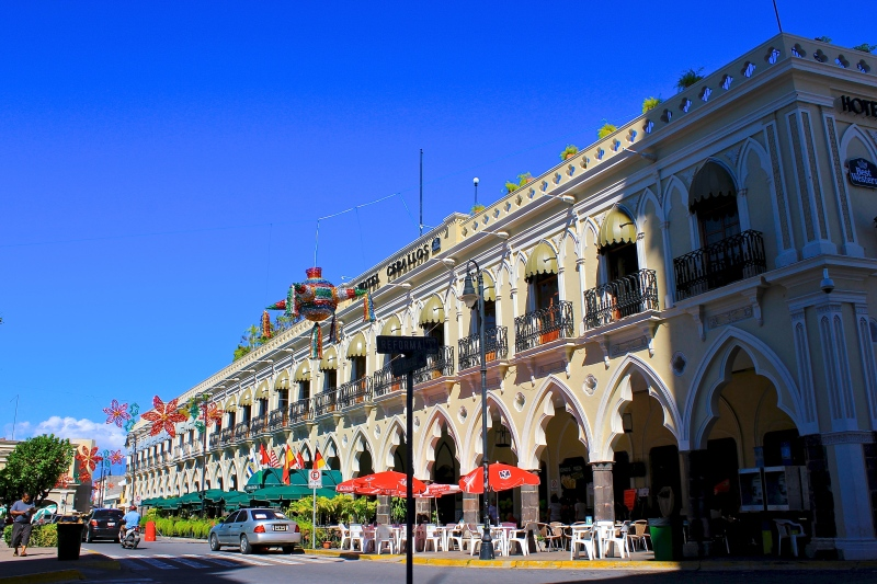 Downtown square in Colima