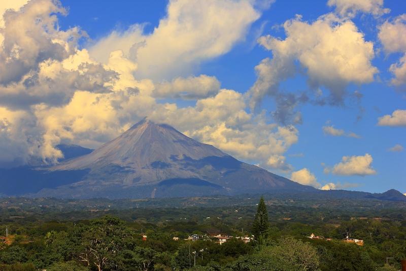 The active volcano in Comala