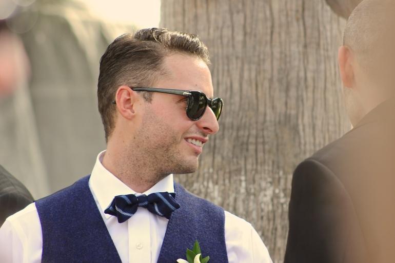 Marcel and his bow tie pre-wedding