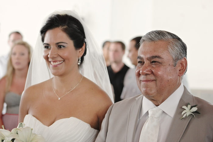 Espe, the gorgeous bride, and her dad