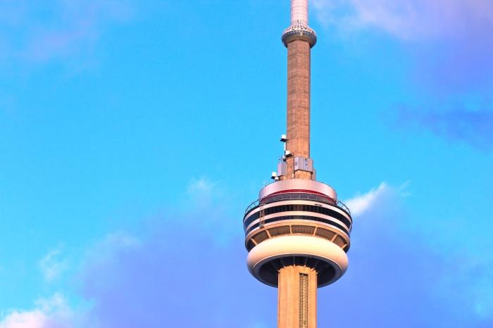 Purple & Blue CN Tower