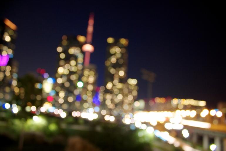 Toronto in bokeh.