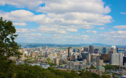 Full Shot of Downtown Montreal