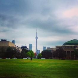 CN Tower with Rain