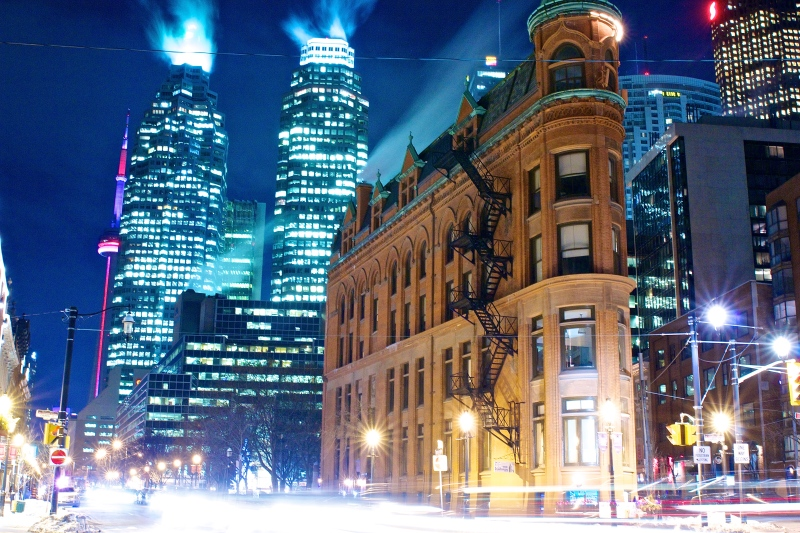 Toronto's flatiron the Gooderham Building. (Photo by Ryan Bolton)