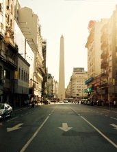 The Obelisco de Buenos Aires. A quick walk from out hotel.