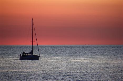 Sunset in Uruguay.