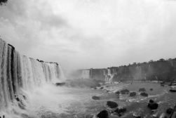 The full perspective of Iguazu Falls.