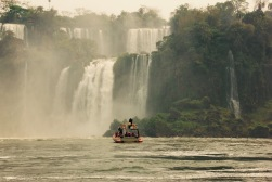 Taking boats into the falls. Slightly insane.