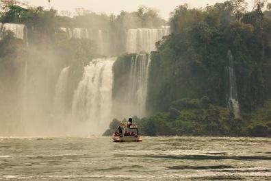 Taking boats into the falls. Slightly insane.