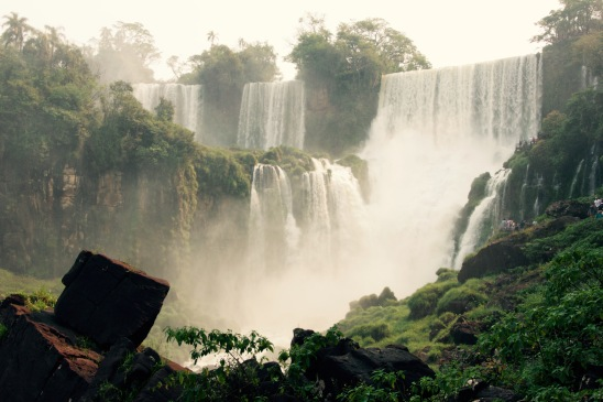 The epic beauty of Iguazu Falls at the border of Brazil and Argentina.