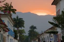 Sunset in Paraty, Brazil.