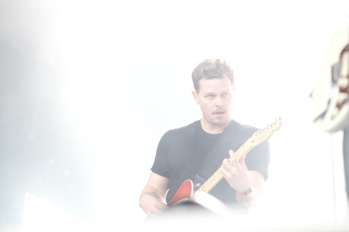Lead singer of alt-J at WayHome.