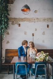 Toronto Wedding Couple on Queen Street