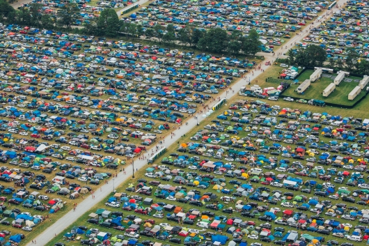 Areial view of Boots & Hearts Festival