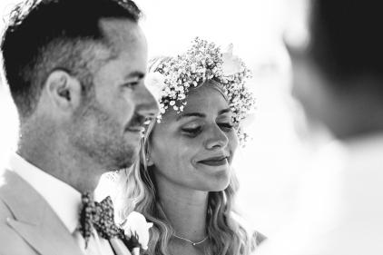 Mexico Beach Wedding Bride Crying